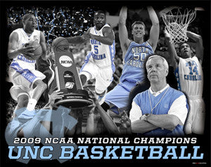 North Carolina Tar Heels 2009 National Champions Action Collage - ProGraphs Inc.