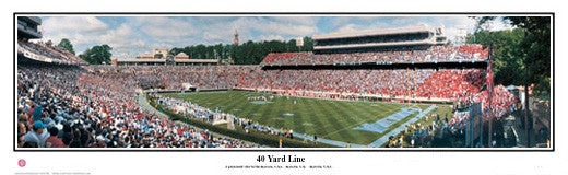 "North Carolina Tar Heels Football ""40 Yard Line"" Panoramic Poster - Everlasting Images"