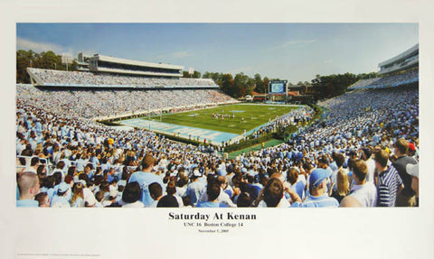 "North Carolina Tar Heels Football ""Saturday at Kenan"" Panoramic Poster Print - Sofa 2006"