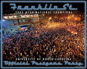 "North Carolina Tar Heels ""Franklin Street"" (Chapel Hill 4/7/2009) Premium Poster Print - ProGraphs"