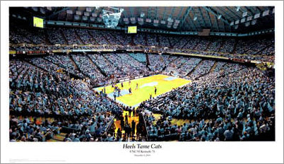 "North Carolina Tar Heels ""Heels Tame Cats"" Dean Smith Center Game Night Poster - SG 2005"