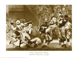 "Johnny Unitas ""The Golden Arm"" (1958 NFL Championship Game) Poster Print - NYGS"