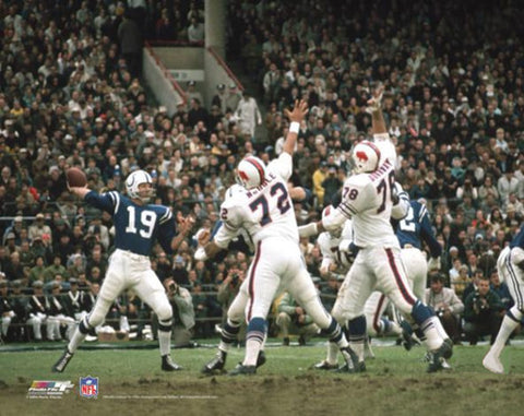Johnny Unitas Baltimore Colts vs. Buffalo Bills 1970 Premium Poster Print - Photofile