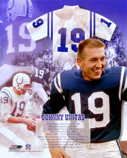 "Johnny Unitas ""The Legend"" Historic Collage - Photofile Inc."
