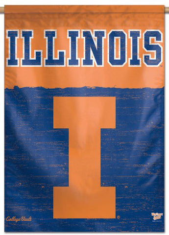 Illinois Fighting Illini College Vault Collection Premium Collector's Wall Banner - Wincraft Inc.