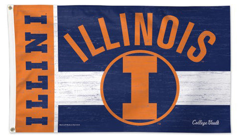 University of Illinois Fighting Illini Retro College Vault Collection NCAA Deluxe-Edition 3'x5' Flag