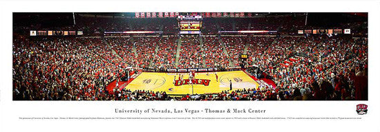 UNLV Basketball Thomas & Mack Center Game Night Panoramic Poster Print - Blakeway