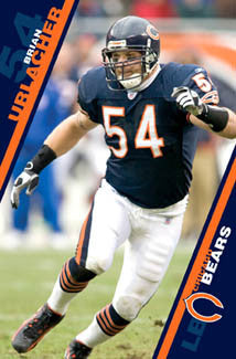 "Brian Urlacher ""Stalker"" Chicago Bears Original NFL Action Poster - Costacos 2006"