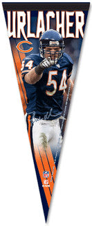 "Brian Urlacher ""Intimidation"" Premium Collector's Pennant (L.E./2008)"