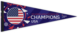 Team USA FIFA Women's World Cup Soccer 2019 CHAMPIONS Official Premium Felt Pennant - Wincraft