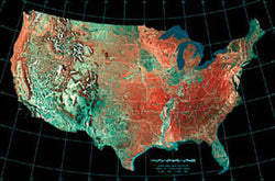 USA Albers Equal Area Projection Map - Import Images