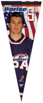 Zach Parise Team USA 2010 Premium Felt Collector's Pennant