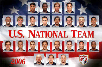 U.S. Men's Soccer National Team 2006 Poster - Sports Endeavors