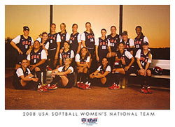 "2008 USA Softball Women's National Team ""Sunset"" Poster"
