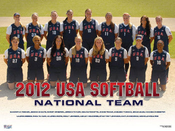 USA Softball Women's National Team 2012 Official Team Poster - USA Softball