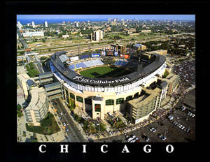 "Chicago White Sox U.S. Cellular Field ""From Above"" Premium Poster Print - Aerial Views"