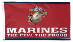 United States Marines Official American Military Emblem Logo DELUXE FLAG - Wincraft Inc.
