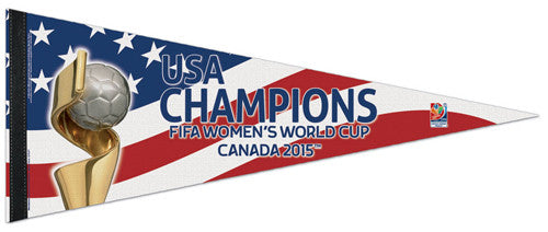 US Women's Soccer 2015 World Cup Champions Premium Felt Commemorative Pennant - Wincraft