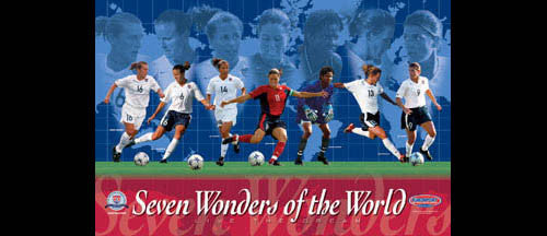 "U.S. Women's Soccer ""Seven Wonders"" Poster - Sports Endeavors 2003"