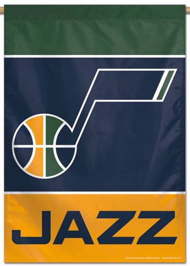 Utah Jazz Official NBA Basketball Premium 28x40 Team Logo Wall Banner - Wincraft Inc.
