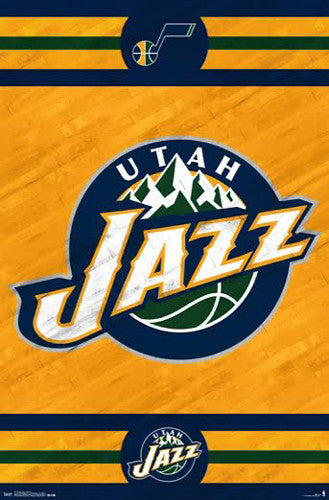 Utah Jazz NBA Basketball Official Team Logo Poster - Costacos 2014