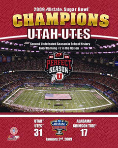 Utah Utes 2009 Sugar Bowl Champs Commemorative Print - Photofile Inc.