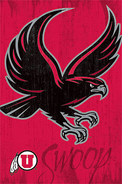 "Utah Utes ""Swoop"" Official NCAA Team Logo Poster - Costacos Sports"