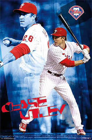 "Chase Utley ""Double Action"" Philadelphia Phillies Poster - Costacos 2014"
