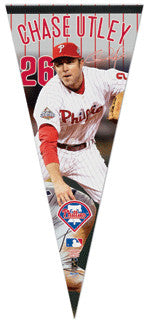 "Chase Utley ""Turn 2"" Oversized Premium Felt Pennant (2009)"