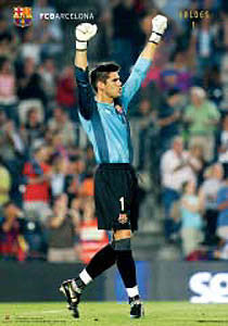 "Victor Valdes ""Victory"" FC Barcelona Official Poster - CPG 2007"