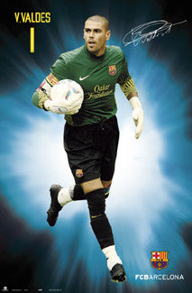 "Victor Valdes ""Signature Series"" FC Barcelona 2011/12 Poster - G.E. (Spain)"