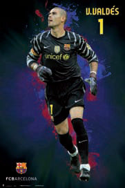 "Victor Valdes ""SuperAction"" FC Barcelona Poster - G.E. (Spain) 2011"