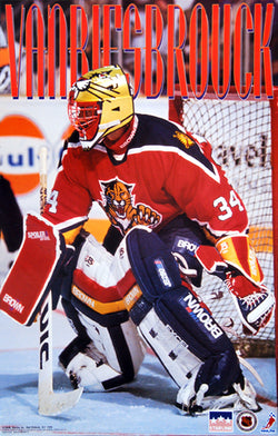 "John Vanbiesbrouck ""Action"" Florida Panthers Poster - Starline 1994"