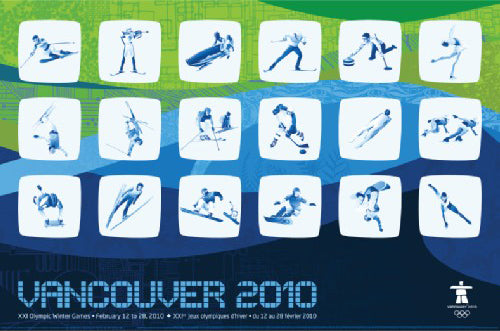 Vancouver 2010 Winter Olympic Games Sporting Event Icons Official Poster - Trends 2010
