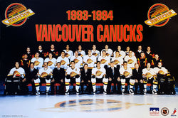 Vancouver Canucks 1993-94 Official NHL Hockey Team Poster - Starline Inc.