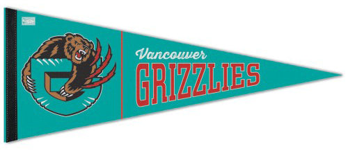Vancouver Grizzlies Retro-1990s-Style NBA Basketball Premium Felt Pennant - Wincraft Inc.