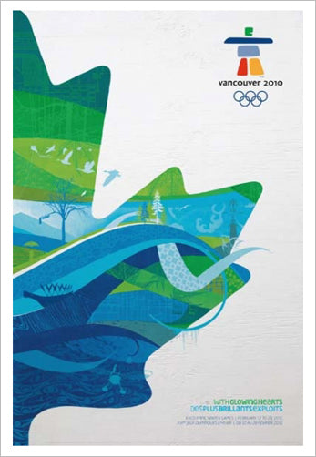 Vancouver 2010 Winter Olympics Official Poster Reproduction - Olympic Museum