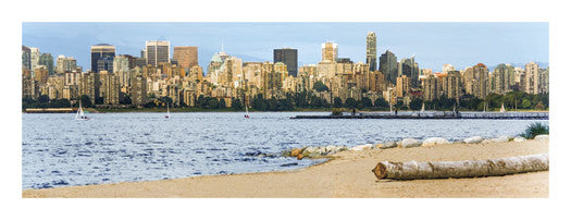 Jericho Beach and English Bay, Vancouver, BC, Canada Panoramic Poster Print - Canadian Art Prints