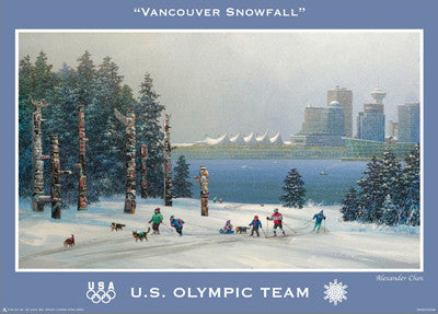 "Vancouver 2010 ""Snowfall"" (US Olympic Team) - Fine Art Ltd."
