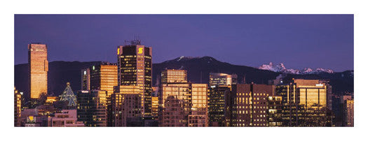 "Vancouver, BC, Canada ""Winter Sunrise"" Panoramic Poster Print - Canadian Art Prints"