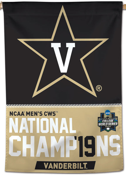 Vanderbilt Commodores Baseball 2019 College World Series Champions Commemorative Wall Banner - Wincraft Inc.