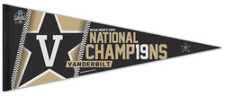 Vanderbilt Commodores 2019 NCAA College World Series Champions Premium Felt Collector's Pennant - Wincraft Inc.