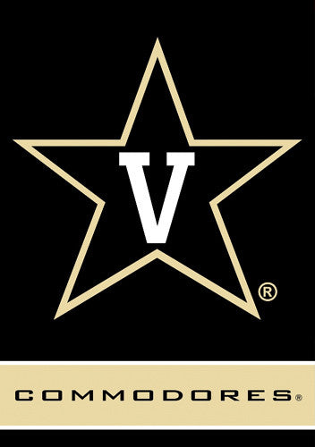 Vanderbilt Commodores Official 28x40 NCAA Premium Team Banner - BSI Products