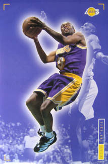 "Nick Van Exel ""Quick"" L.A. Lakers NBA Action Poster - Costacos 1995"