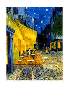 The Cafe Terrace at Night (1888) by Vincent Van Gogh - Eurographics 16x20