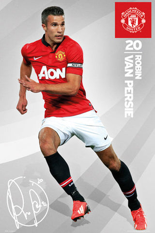 "Robin Van Persie ""Signature"" Manchester United FC Official Action Poster - GB Eye (UK)"