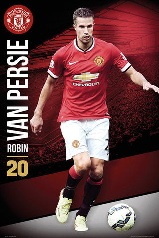 "Robin Van Persie ""Superstar"" Manchester United FC Soccer Action Poster - GB Eye (UK)"
