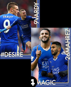 Jamie Vardy and Riyad Mahrez #DESIRE and #MAGIC Leicester City 2-Poster Combo Set - Starz