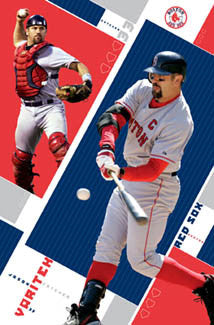 "Jason Varitek ""Double Action"" Boston Red Sox MLB Action Poster - Costacos 2005"