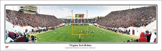 "Virginia Tech Hokies ""View From The Hill"" Scott Stadium Panoramic Poster Print - Everlasting Images"